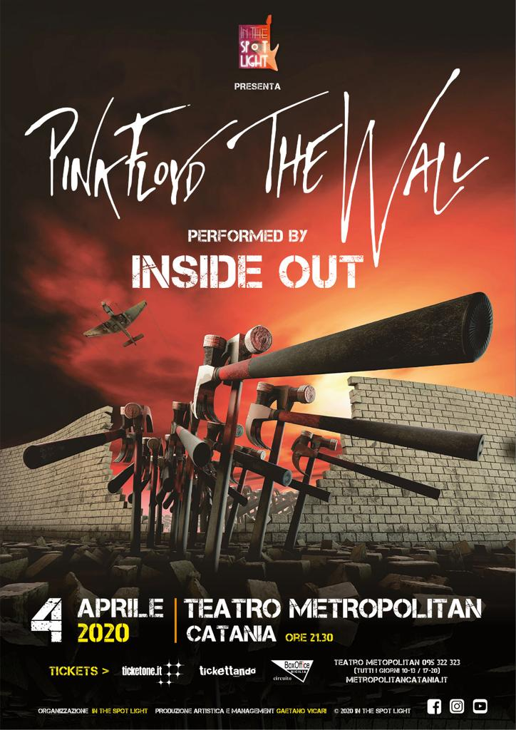 SPETTACOLO ANNULLATO - THE WALL TRIBUTO PINK FLOYD - INSIDE OUT