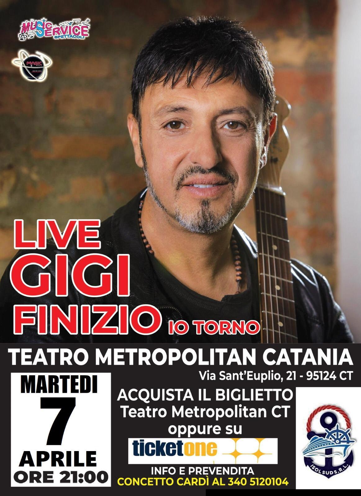 SPETTACOLO RIVIATO AL 7 APRILE - GIGI FINIZIO LIVE